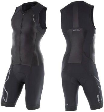 2XU vyriškas kostiumas ZIP trisuit (JUODA/JUODA)