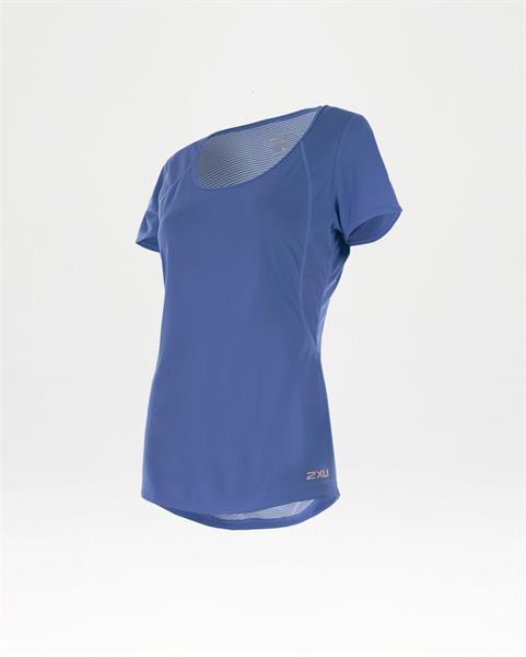 2XU moteriški marškinėliai X-Vent S/S (VIOLETINĖ)