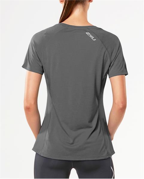 2XU moteriški marškinėliai X-Vent S/S (PILKA)