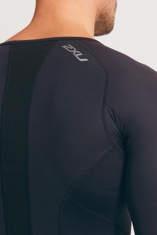 2XU vyriški kompresiniai marškinėliai L/S (JUODA/JUODA)