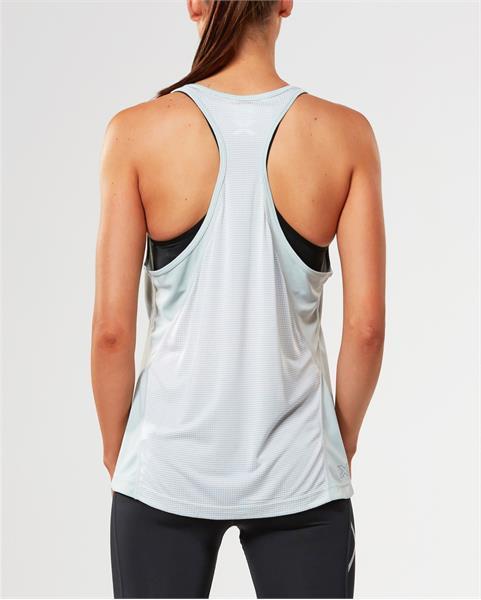 2XU moteriški marškinėliai X-Vent Racer back (Pearl BLUE)