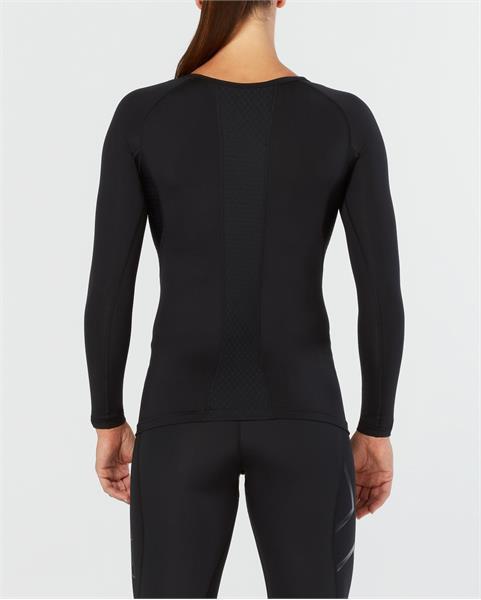 2XU moteriški kompresiniai marškinėliai L/S (JUODA)