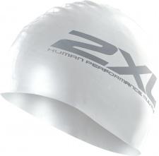 2XU plaukimo kepuraitė silikoninė (balta/juoda)