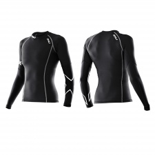 2XU THERMAL moteriški kompresiniai marškinėliai (JUODA/JUODA)